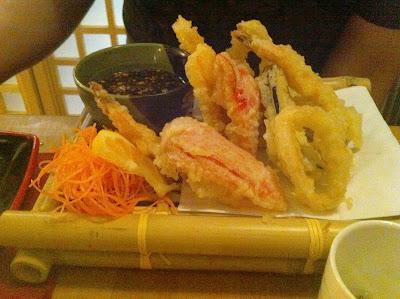 Stitch and Bear - Mixed tempura at Mushashi