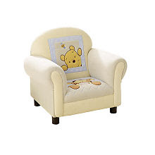 Kids Line Winnie the Pooh Soft & Fuzzy Upholstered Chair