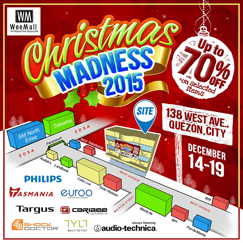 WeeMall Holds Chrismas Madness 2015! Up To 70% Off On Selected Items!