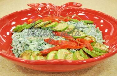 Cevizli Kabaklı Ispanaklı Salata Tarifi