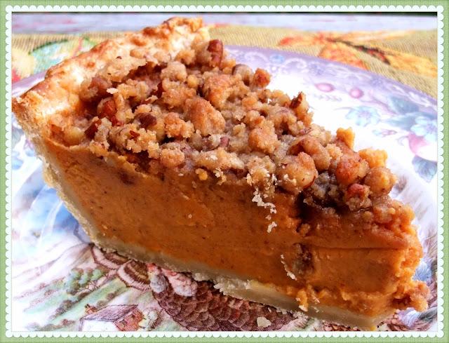 Rosie's Country Baking: Sweet Potato Pie with Cinnamon Pecan Streusel