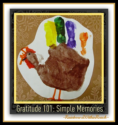 Painted Handprint as a Turkey (Hand RoundUP via RainbowsWithinReach)