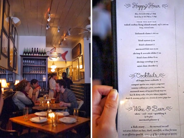 NYC: The Mermaid Inn for the Happiest Oyster Happy Hour - Shelly in