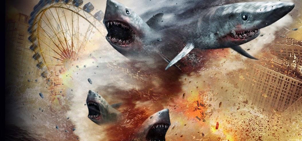 Caos e tempestade de tubarões no trailer completo de Sharknado 2: The Second One