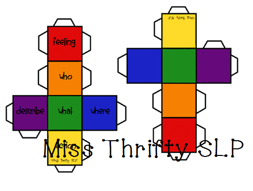 Miss Thrifty Slp Colorful Semantics Cubes