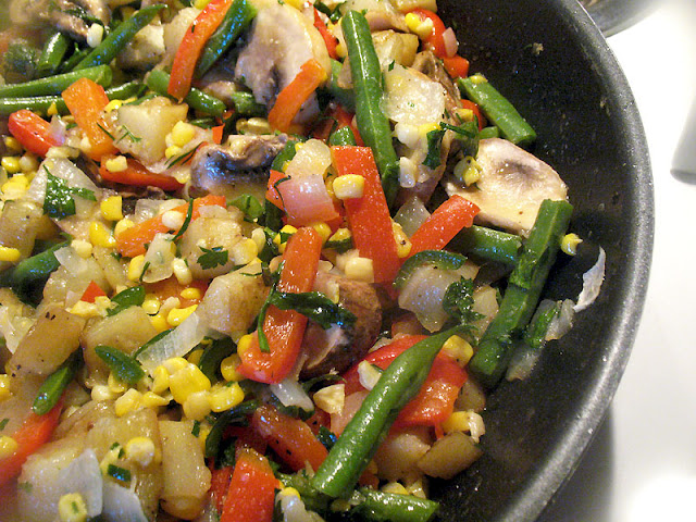 green bean and corn stir fry