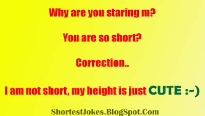 jokes about I am not short