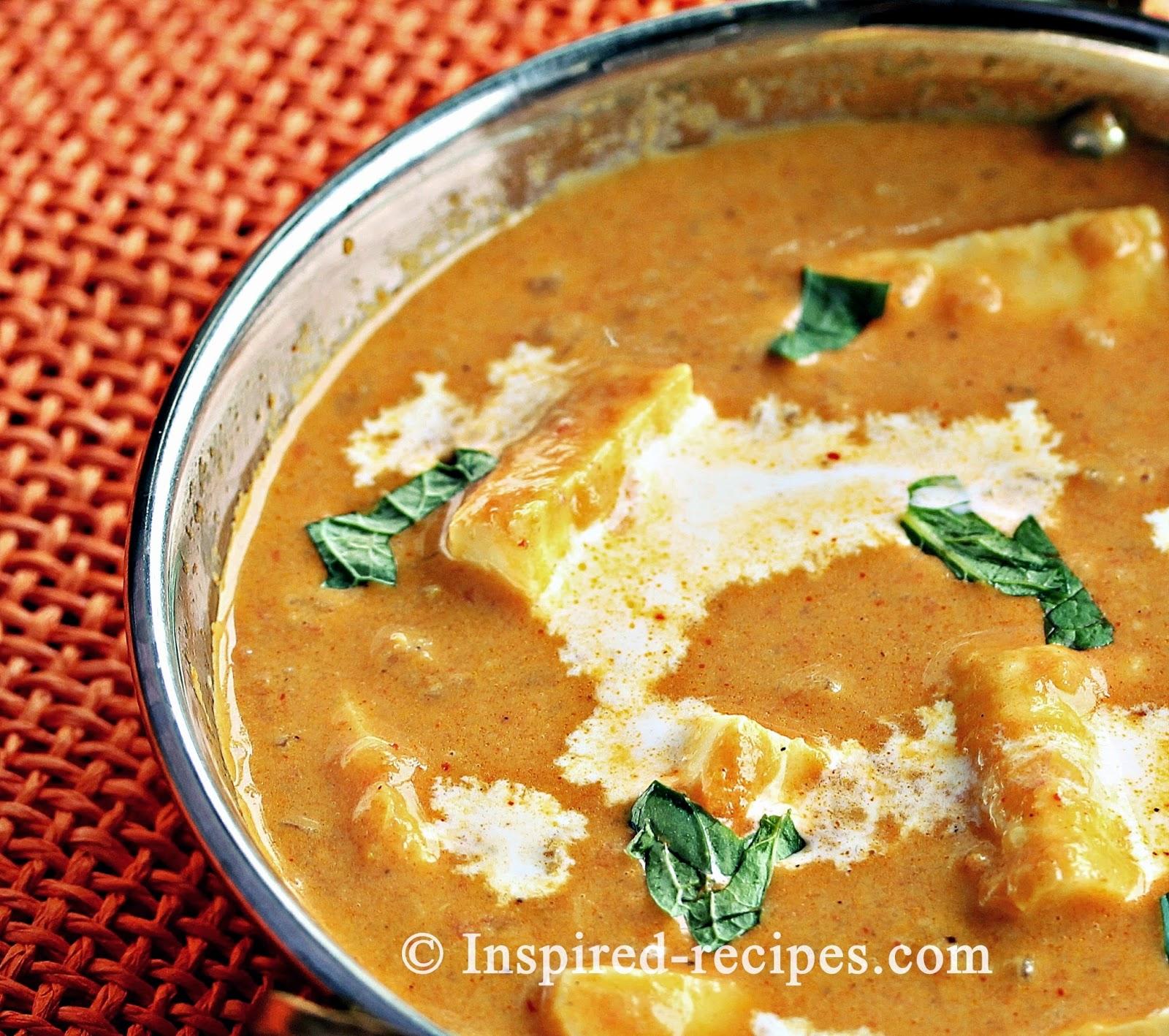 Shahi Paneer Cottage Cheese In Creamy Gravy Inspired