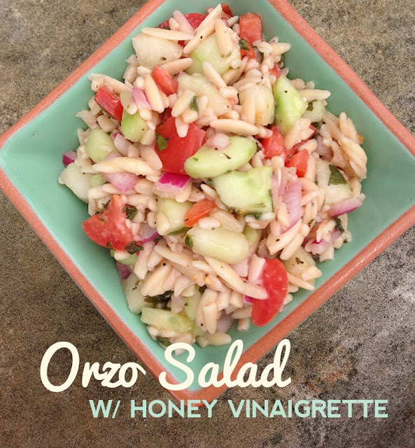 Orzo Salad w/ Honey Vinaigrette Dressing Recipe