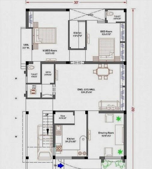 House Design  X    X  Home Floor Plans  X - House map design 30 x 60