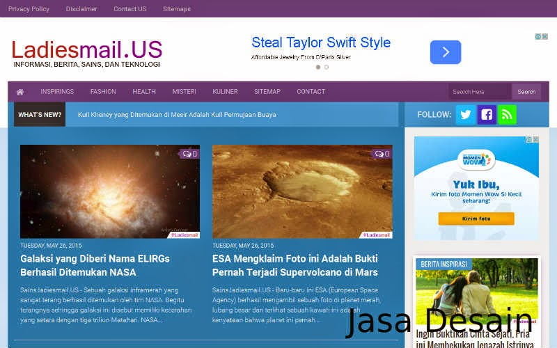 Jasa Desain Template Khusus Blogger