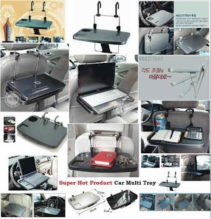 Meja Lipat Multifungsi Untuk Mobil, Car Multi Tray