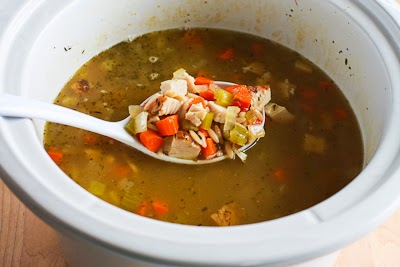 ... ®: Slow Cooker Lemony Turkey (or chicken) Soup with Spinach and Orzo