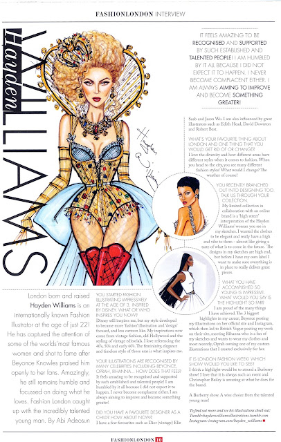 Hayden Williams Fashion Illustration Beyonce