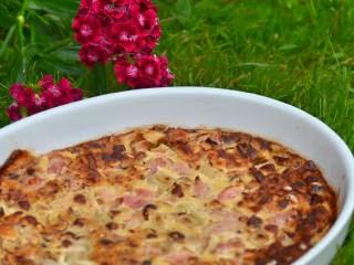 Clafoutis rhubarbe et noisettes