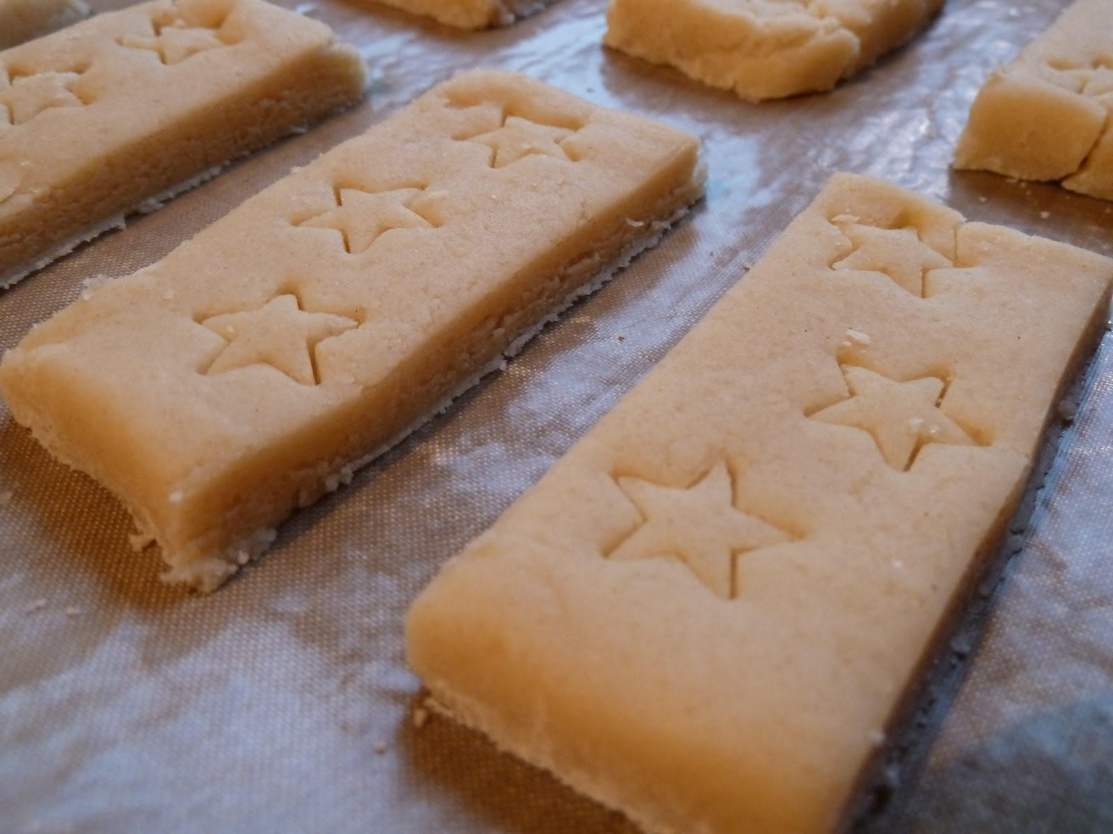 Starry shortbread