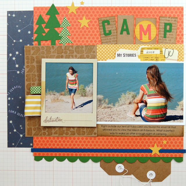 Camp Scrapbooking Layout by Jen Gallacher