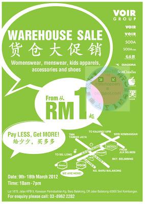 VOIR Group Warehouse SALE