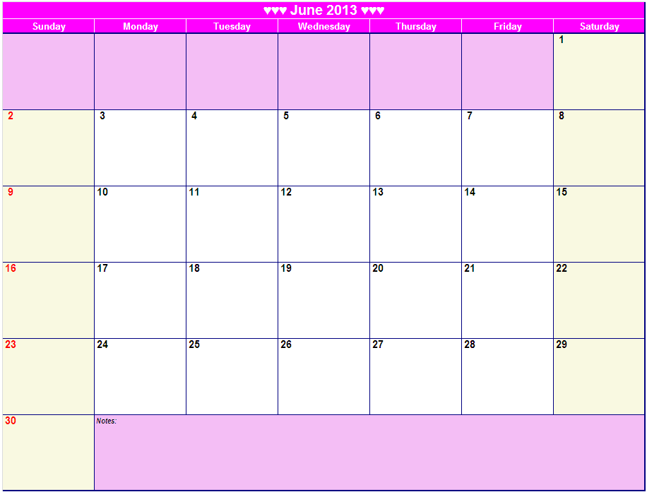 Printable Monthly 2013 Calendars/page/2 | Search Results | Calendar ...