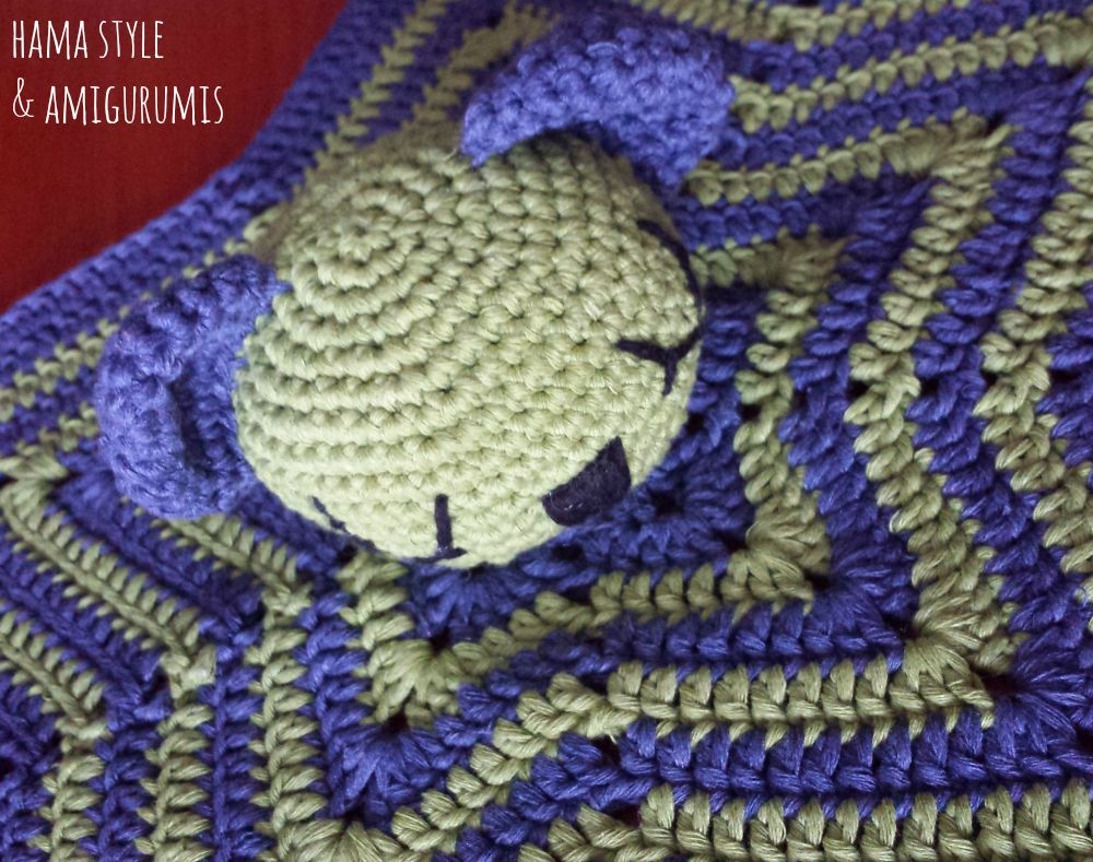 Marta Ruso Crochet Creativo: Mantita de apego Osito [PATRÓN GRATIS]