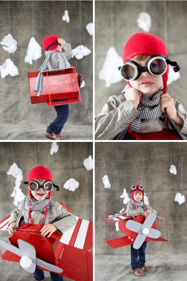 Disfraz aviador niño