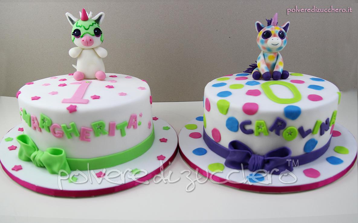 Famoso Torta decorata con i peluches con gli occhi grandi: gli unicorni  NT48