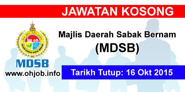 Jawatan Kerja Kosong Majlis Daerah Sabak Bernam (MDSB) logo www.ohjob.info oktober 2015