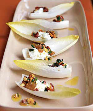 Ruminations on Food: Seventh Day of Appetizers: Endive Ricotta Spoons