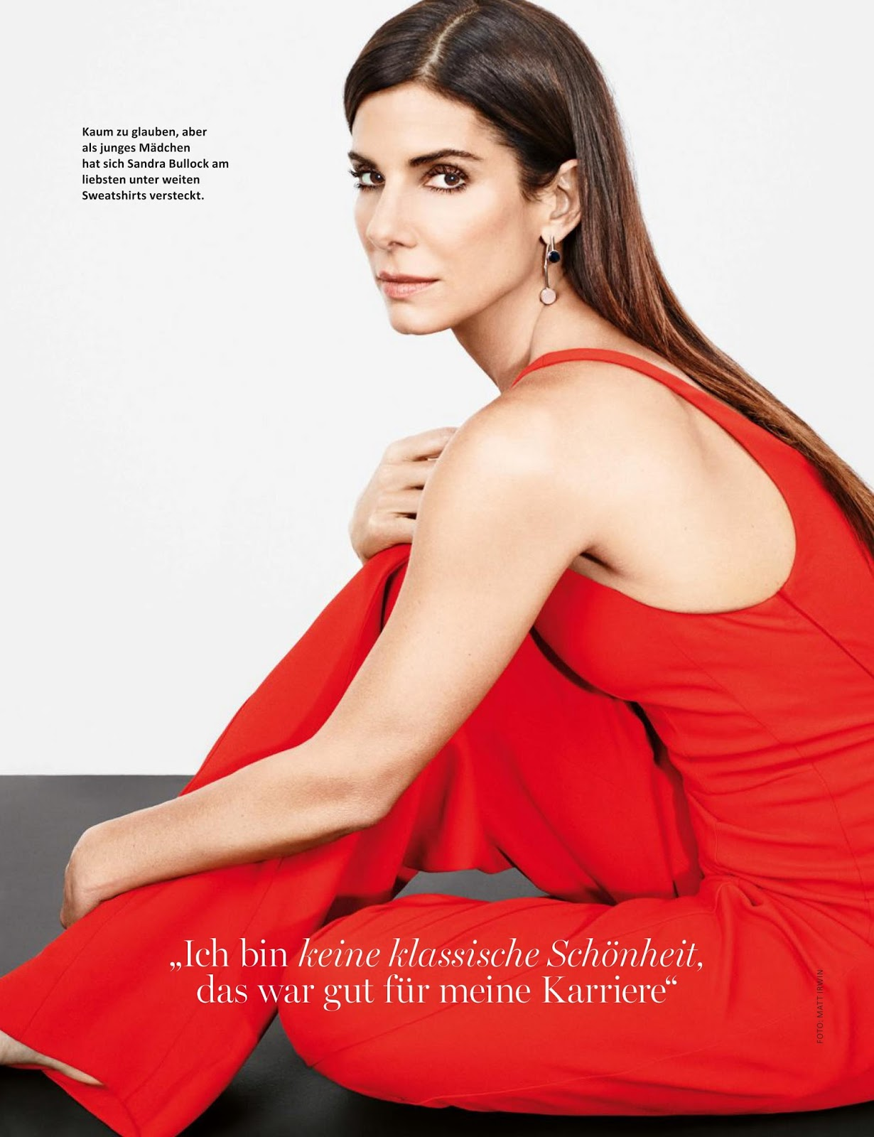 Actress Sandra Bullock Myself Magazine on facebook academy award