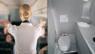Woman trapped in toilet for takeoff