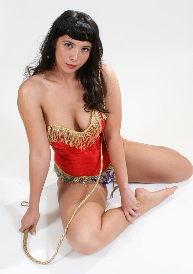 Wonder Woman (Margie Cox) - Bettie Page/Wonder Woman shoot
