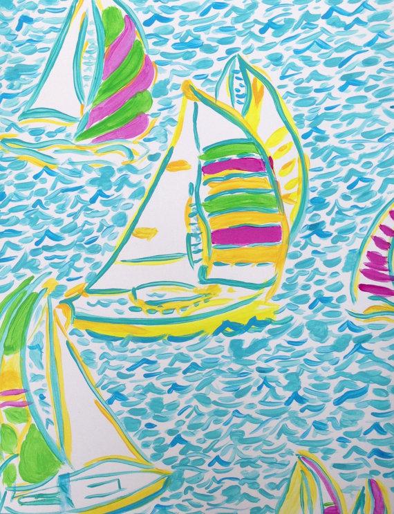 Sailboat pattern background