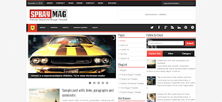 Spray Mag Premium Blogger Template Is a Premium And Responsive Blogger Template