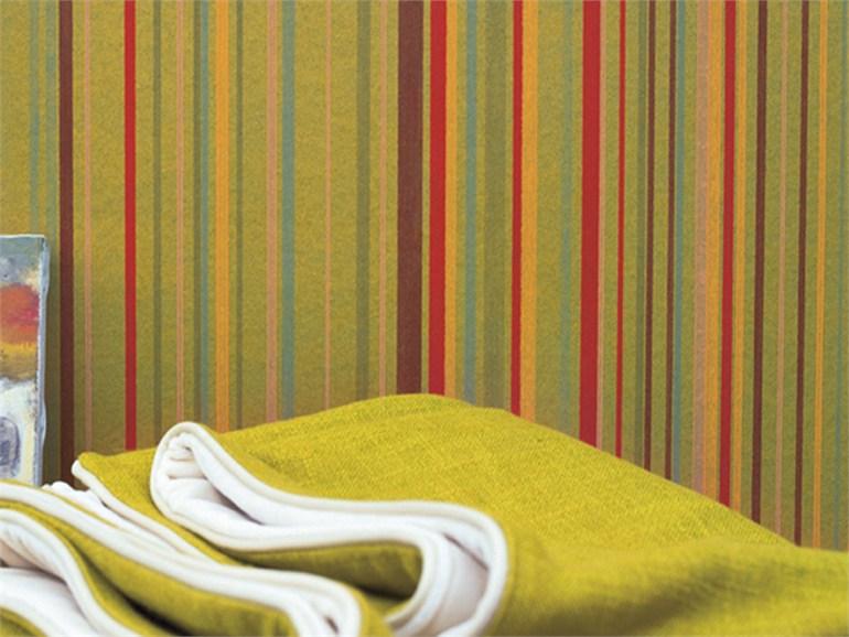 Decorare con le righe architettura e design a roma for Carta da parati in tessuto