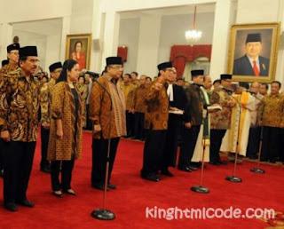 Bahasa Inggris Jabatan Mentri atau Kementrian di Indonesia (RI)