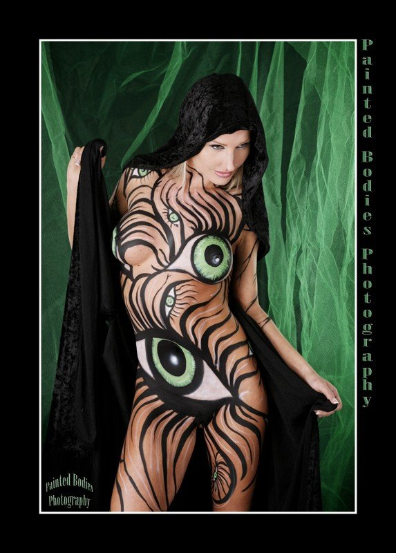 nude art body paint