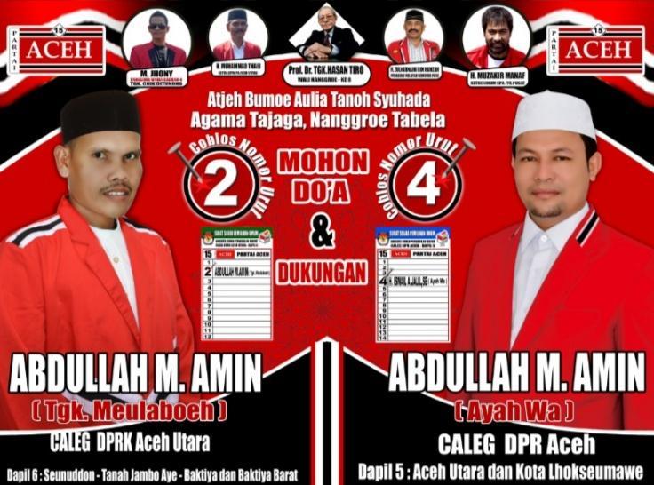 Caleg DPRK Aceh Utara dan DPR Aceh