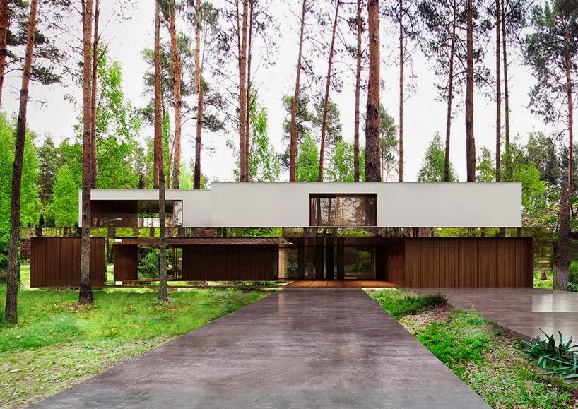 تصميم منزل وسط الغابة