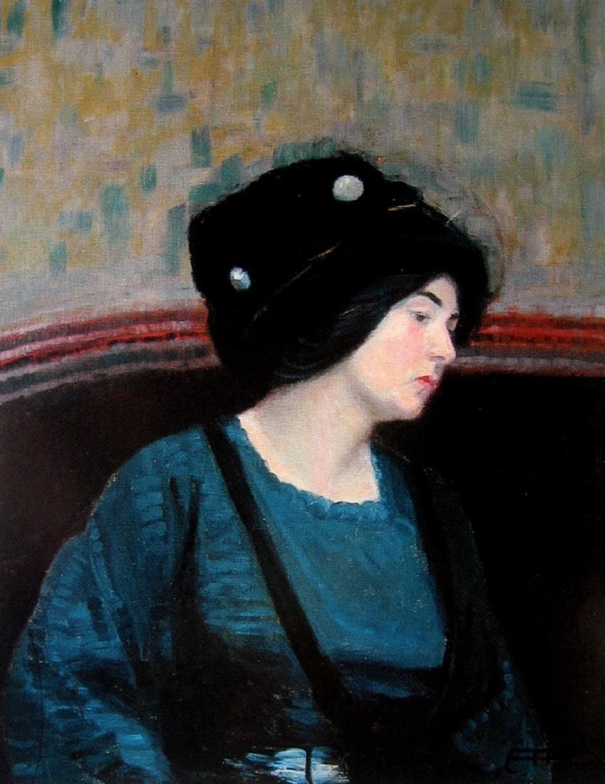 Hilda Rix Nicholas A Woman with a Hat
