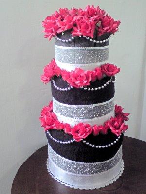 blog for you bridal shower towel cake