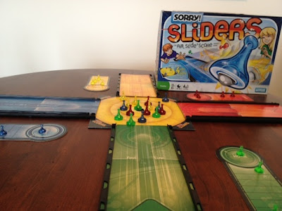 playing Sorry! Sliders