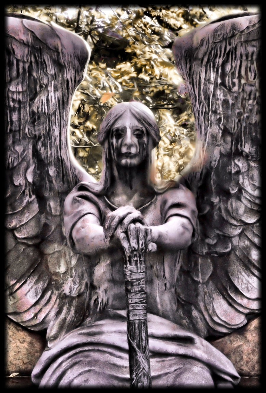 Weeping Warrior Angel