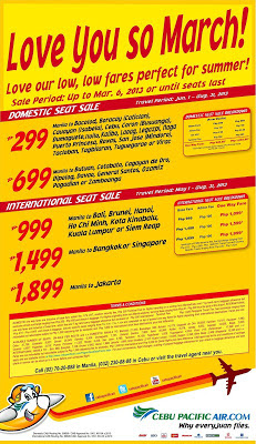 cebu pacific promo march 2013