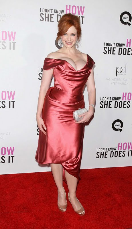 "Christina Hendricks at ""I Don't Know How She Does It"" Premiere"
