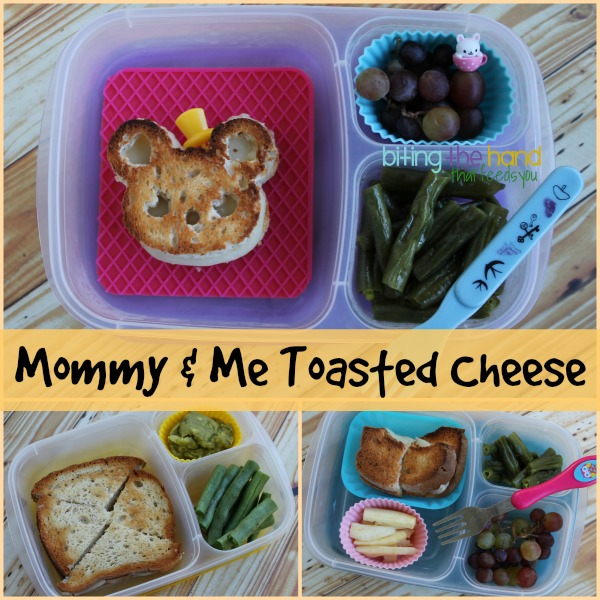 Mommy & Me grilled cheese bento lunches in EasyLunchboxes