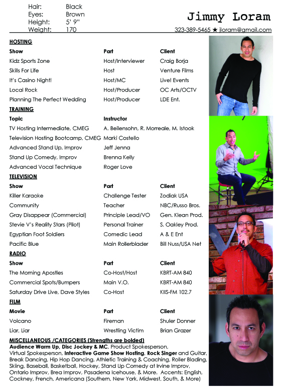 Host Resume | Resume Badak