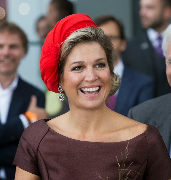 Queen Maxima of The Netherlands attends the opening of the new Markthal on 01.10.2014 in Rotterdam, Netherlands.