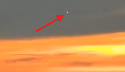 Latest UFO Sightings White Glowing UFO Captured Hovering Above Russia