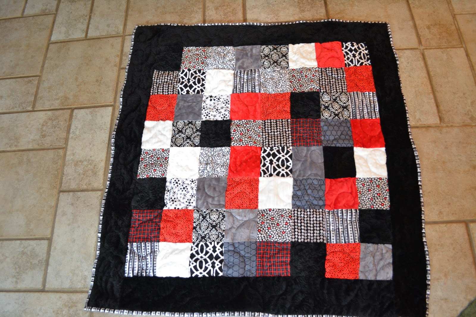 Something Brought You Here Scrappy Minky Quilt Free