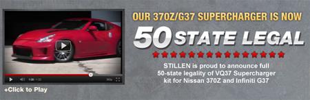 stillen obtains 50 state legal status for nissan 370z. Black Bedroom Furniture Sets. Home Design Ideas
